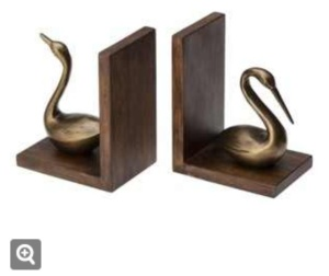 Threshold Wood and Brass Finish Egret Bookends $22.49 @ Target (online and in store)