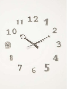 Alloy Numeral Clock $158.00 @ Anthropologie