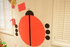 Pin-The-Dot on the ladybug game