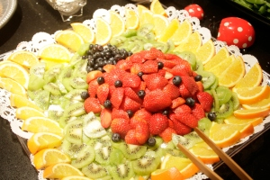 Lady fruit tray