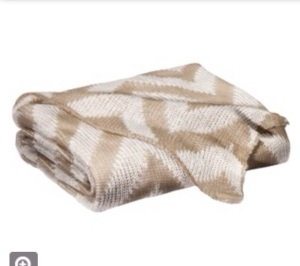 Knit Chevron Blanket - Tan and Cream $29.99 @ Target
